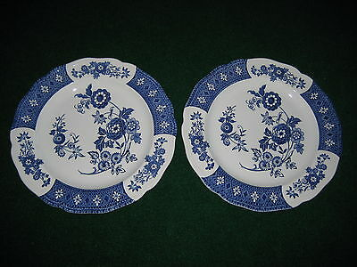 "2 Royal Staffordshire Cathay Ironstone J&G Meakin England 10.5"" dinner plate"