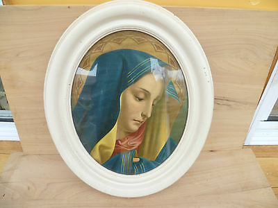 Vintage Old Religious Framed Picture