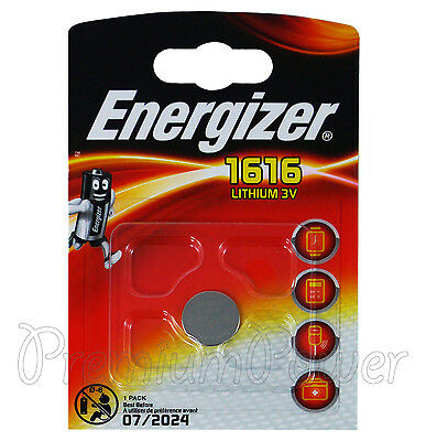 1 x Energizer Lithium CR1616 battery 3V Coin Cell DL1616 KRC1616 BR1616 EXP:2024