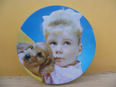 Vintage Old Kids Style Biscuit Tin, Old Tin