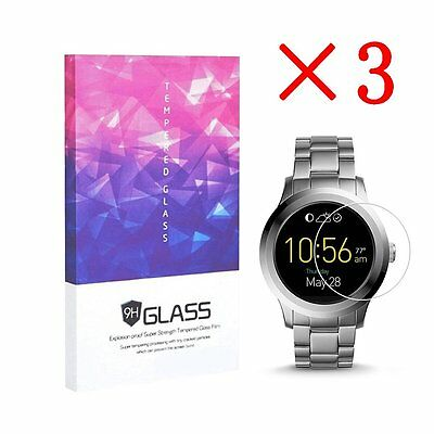 For Fossil Q Founder Gen 2 Tempered Glass Screen Protector 9H Hardness (3 Packs)