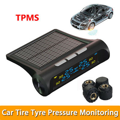 Car TPMS Tire Tyre Pressure Monitoring System Solar Energy LCD Display Sensor AU