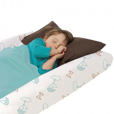 The Shrunks Travel Bed, 2+ years, inc pump &fitted sheet, 132X68X18cm Brand new
