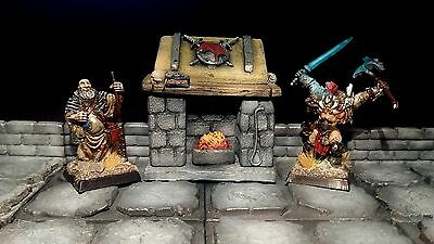 D&D Dnd pathfinder RPG dungeon terrain Fireplace