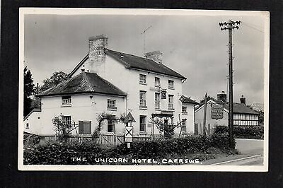Caersws - The Unicorn Hotel - real photographic postcard