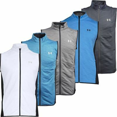 Under Armour 2017 Coldgear Full Zip Reactor Hybrid Gilet Mens Golf Vest