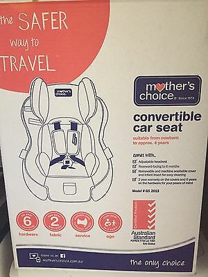 Mothers Choice Brand New Car Seat