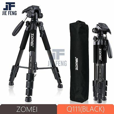 ZOMEI Q111 Black Professional Aluminium Tripod monopod&Ball Head for DSLR Camera