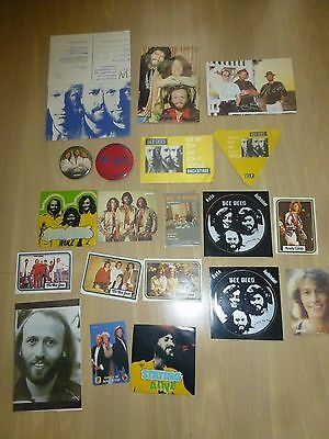 Bee Gees Collectables - Vipcards, Telephone Card, Stickers, Badges  (21 In Total