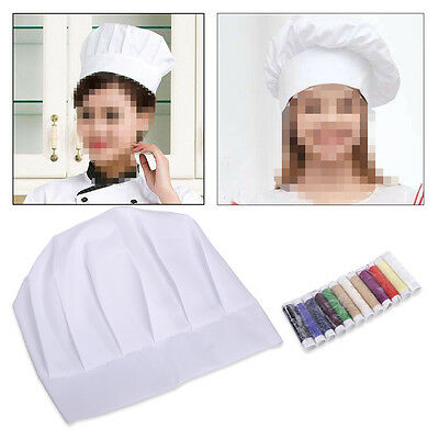 Hot Children Chef Hat Kitchen Cooking Baker Cap Kids Dress Up Gift  Embroidered