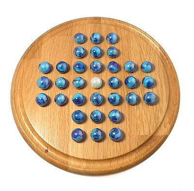 'Atlantis' Oak Solitaire Board Game