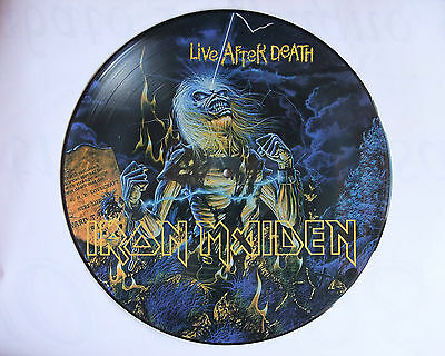 Iron Maiden LIVE AFTER DEATH rare picture disc MADE IN BRAZIL