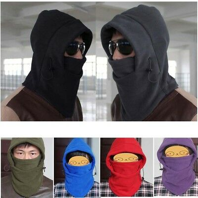 Fleece Thermal Balaclava Hood Hat Motorcycle Bike 6in1 Ski Outdoor Face Mask FT