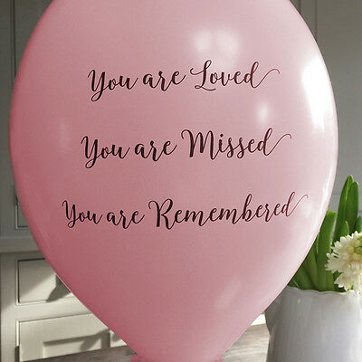 Angel & Dove 25 Pale Pink 'You Are Loved' Biodegradable Latex Funeral Balloons