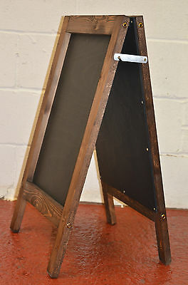 Traditional Wooden Advertising Sign A-Board Chalkboard/Blackboard Painted Panel