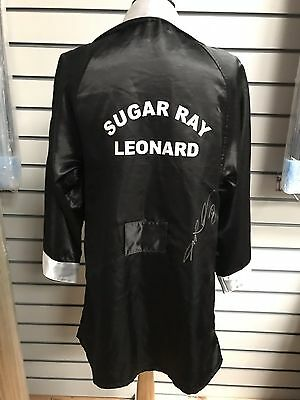 Sugar Ray Leonard Hand Signed Boxing Robe/Gown World Champion COA