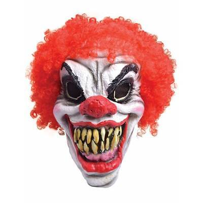 Pennywise It Clown Mask Horror Scary Killer Halloween Fancy Dress Costume