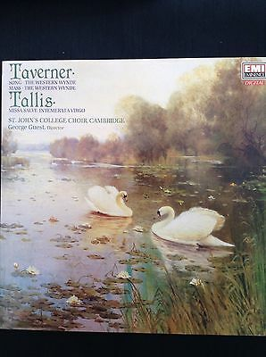 TAVERNER:THE WESTERN WYNDE Song & Mass / Tallis: Missa Salve 1989 EMI LP EMX2155