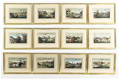 Fine RARE China Chinese 12 Pith Paintings Assorted River Landscapes ca. 19th c.