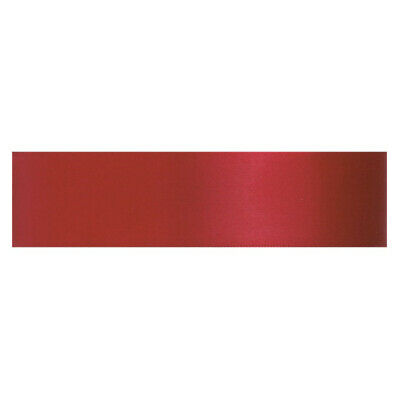 Culpitt SCARLET RED 3mm x 25m Double Faced Satin Ribbon Cake Decoration Craft
