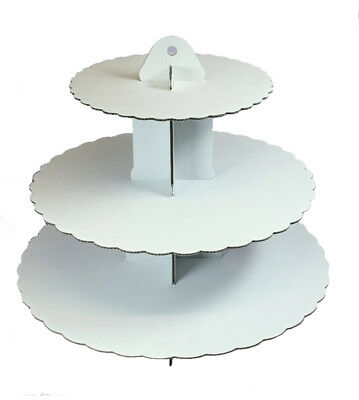 Culpitt WHITE 3 Tier Cupcake Cake Stand Display Birhtday Party Decoration
