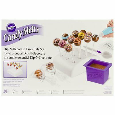 Wilton Candy Melts Dip And Clip Lolli Pops Sticks Stand Coupler Party Decoration