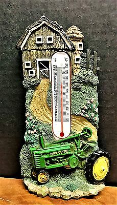 Vintage collectible, rare from 60's John Deere wall Thermometer