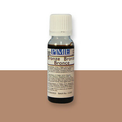 PME BRONZE Edible Airbrush Spray Colour 25g Icing Cake Sugarpaste Decoration