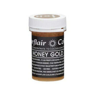 Sugarflair HONEY GOLD Pastel Paste Gel Edible Concentrated Food Icing Colour