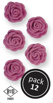 PME LILAC Cupid Roses Floral Flowers Icing Sugar Cup Cake Decorations 12 Pack