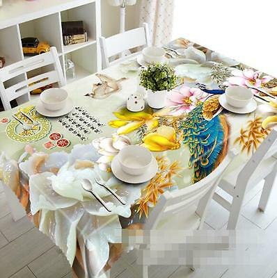 Cookware Dining Bar 3d Flowers Horse Dolphin Koi Tablecloth Rectangular Table Cover Cloth Home Decor Home Furniture Diy New Times Bg
