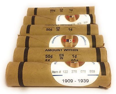 Wheat penny rolls 1909 1939 PDS teens 1922D 1909S key date found US circulated