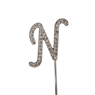 Culpitt N Diamante Letter Topper Wedding Anniversary Birthday Cake Decorations