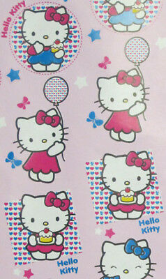 Hello Kitty Pink Christmas Gift Wrapping Paper 2 Rolls 20sq each 3.33 X 2yds