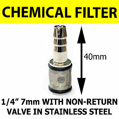 Steel Chemical Filter 7mm Pressure Washer Detergent Fluid Solution Tank Strainer
