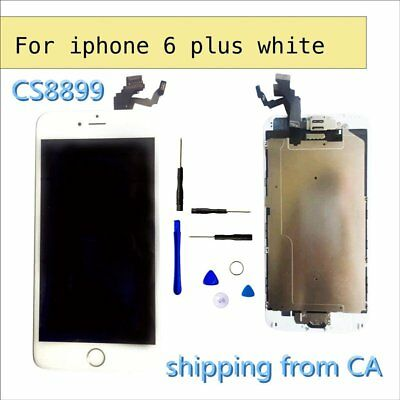 """White iPhone 6 Plus 5.5"""" LCD Replacement Screen Digitizer with homebutton+camera"""