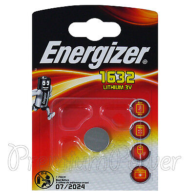 1 x Energizer Lithium CR1632 battery 3V Coin Cell BR1632 KRC1632 DL1632 EXP:2024
