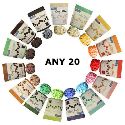 20 x PME ANY COLOUR Candy Button Melt Cake Pops Sugarcraft Cookie Decoration Dip