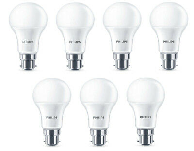 7x Philips LED Frosted B22 40W Warm White Bayonet Cap Light Bulbs Lamp 470 Lm