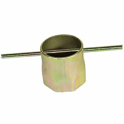 """86mm (3-3/8"""") Box Section Ring Immersion Heater Spanner Wrench T Bar Steel"""