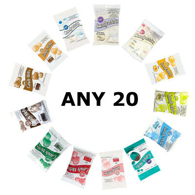 20 x Wilton ANY COLOUR Candy Melts for Cake Pops Icing Handmade Sweet Decoration