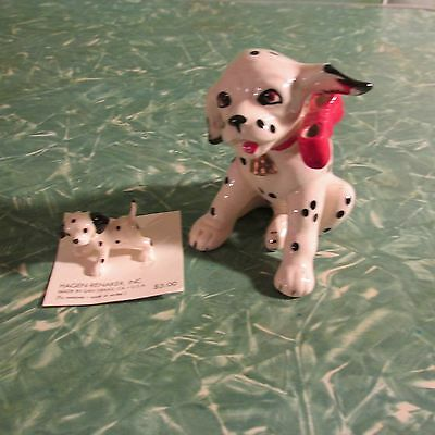 Hagen Renaker Figurines Dalmation Figurines MOC Miniature Lot 2 Dogs Puppy Pup