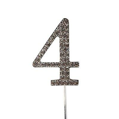 Culpitt 4 DIAMANTE NUMBER Topper Wedding Anniversary Birthday Cake Decorations