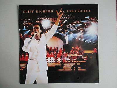 """Rare 12"""" Cliff Richard-From A Distance (Poster Sleeve) (1990)"""