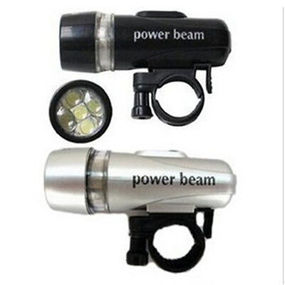 Healthy Bike Bicycle 5 LED Power Beam Front Head Light Headlight Torch Lamp