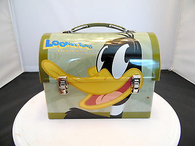 "Daffy Duck ""Looney Tunes Back in Action"" Metal Lunchpail Box"