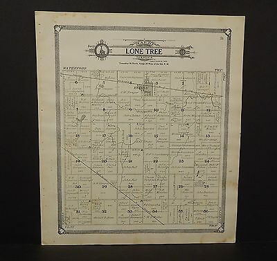 Iowa Clay County Map Lone Tree Township   1909  L11#26