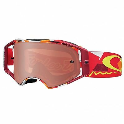 Maschera occhiale Cross Oakley Airbrake MX Splinter Orange Red