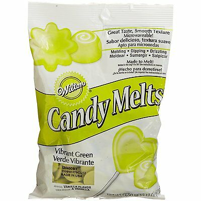 20 x Wilton 12 oz (340g) VIBRANT GREEN Candy Melts For Cake Pop Sweet Decoration