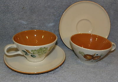 Iroquois Informal Ben Seibel OLD ORCHARD Lot of 5 Cup & Saucer SETS